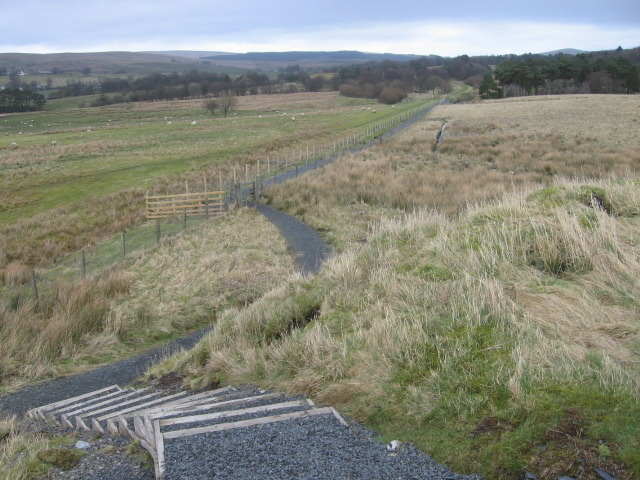 River Ayr Way near Kames
