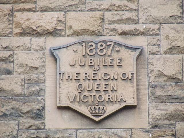 Queen Victoria jubilee date stone