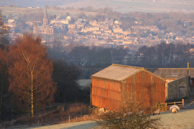 Coombs Farm with Bakewell in background