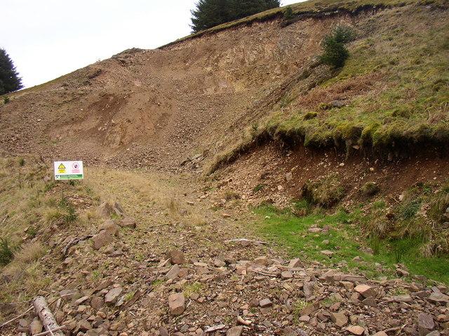 Quarry in Yoke Burn area of Kidland Forest
