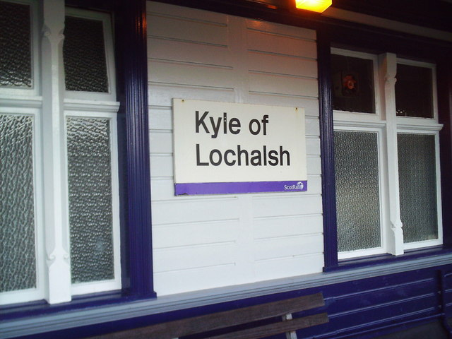At the terminus of the Inverness to Kyle of Lochalsh railway line.