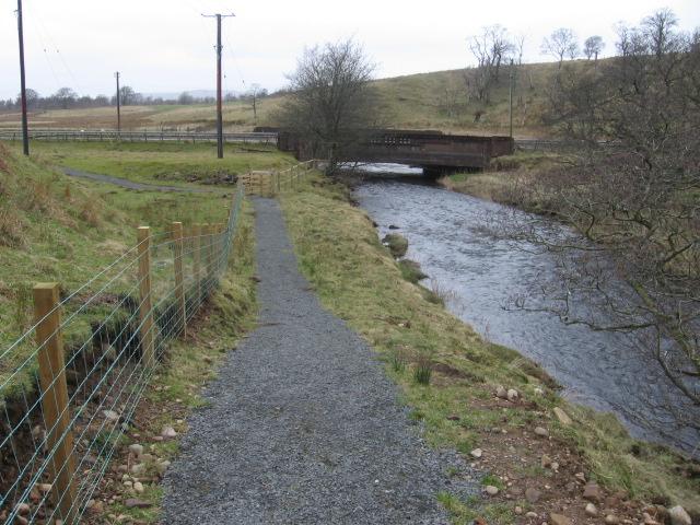 River Ayr way approaching Wellwood Bridge