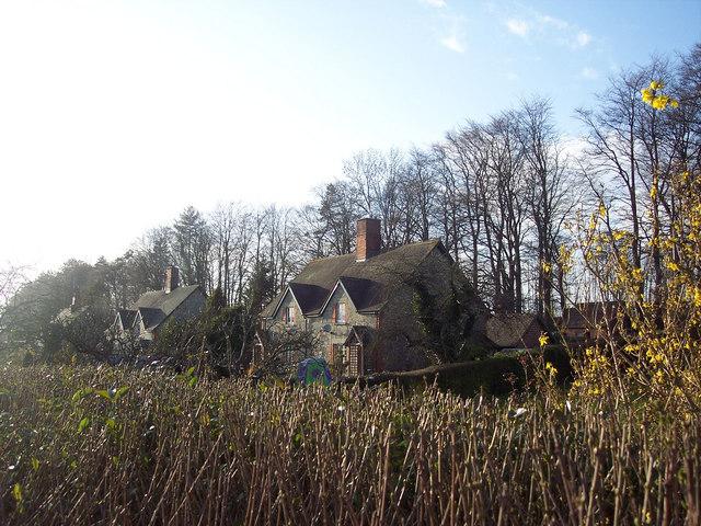 Cottages near Fonthill Bishop