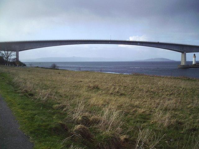 Skye Bridge from Kyleakin North Shore Road.