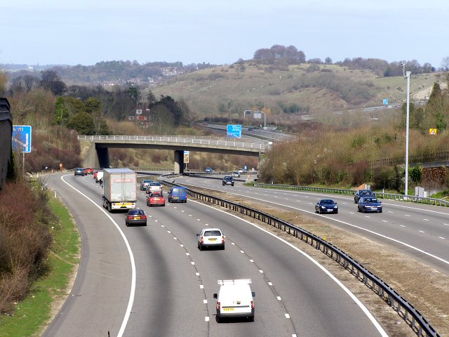 M3 motorway between Compton and Shawford