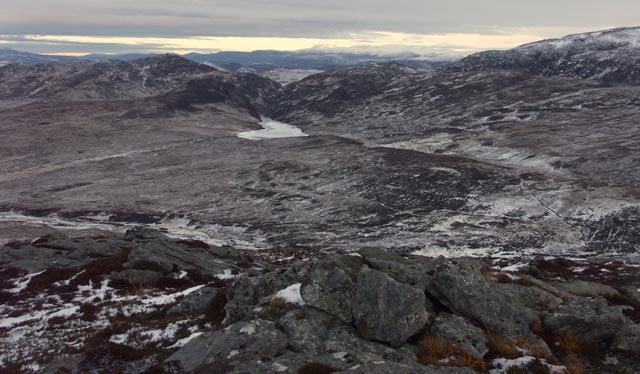 Summit of Beinn Eilde looking towards Loch Caoldair