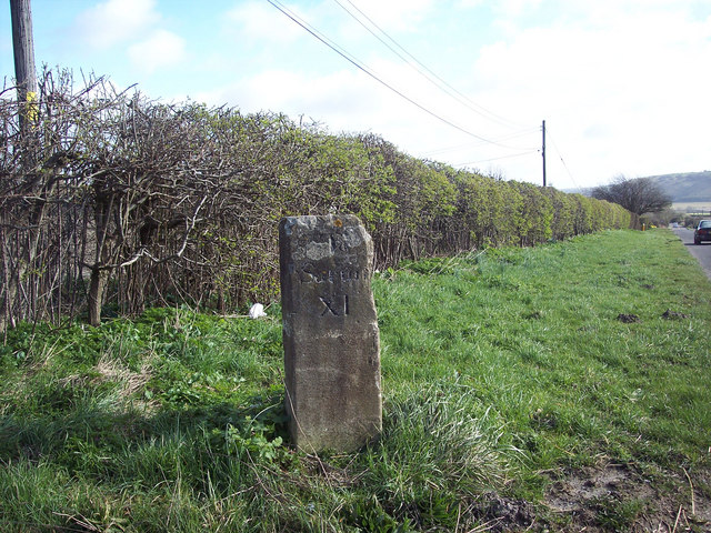 Milestone beside the A30