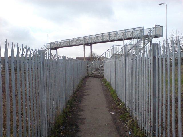 Footbridge over the West Wales railway line