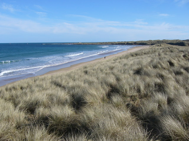 Beach and dunes at Fraserburgh Bay