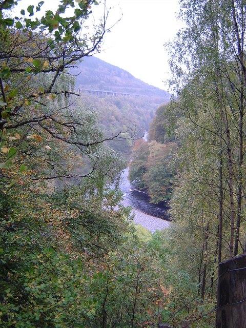 Killiecrankie - view down the River Garry