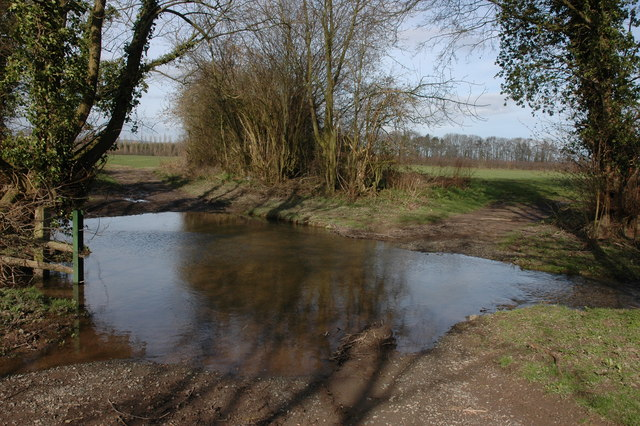 Ford across Moor Brook