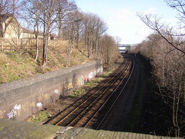 The railway, Whiteacre Street, Deighton, Huddersfield