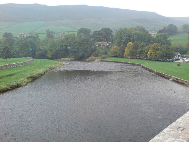 The River Wharfe from Burnsall Bridge