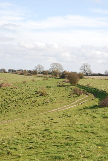 Track along edge of Sutton Down