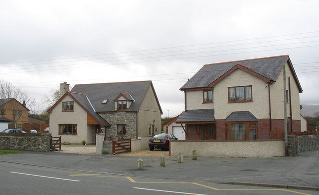 New houses on the main road