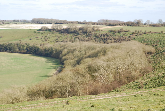 Looking down on Sutton Ivers