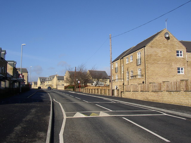 New houses and flats, Long Hill Road, Brackenhall, Fartown, Huddersfield