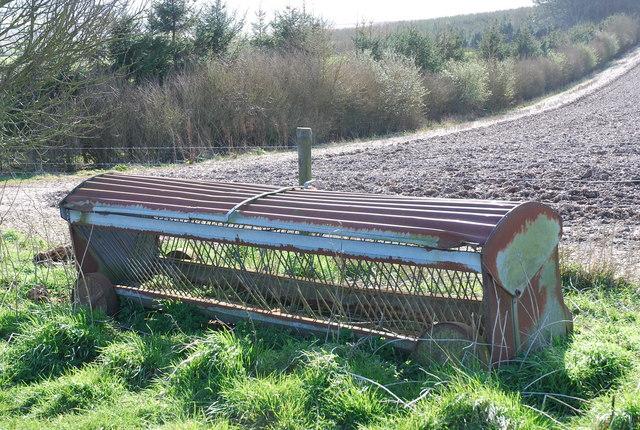 Old feeding trough near North Barn