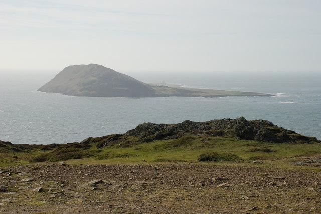Summit of Mynydd Mawr and Ynys Enlli/Bardsey