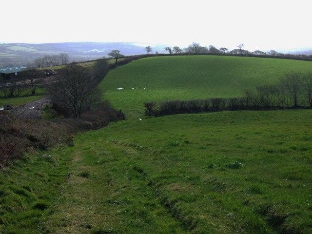 Farmland near Hewton Down