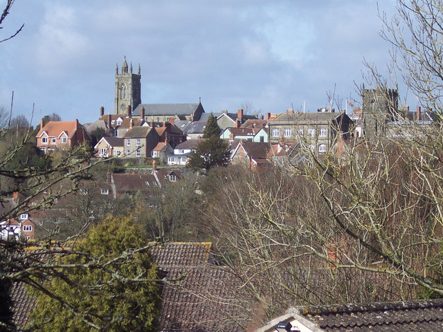 View of Shaftesbury from Great Lane