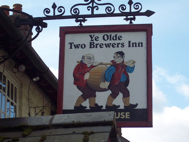 Sign for the Ye Olde Two Brewers Inn, Shaftesbury