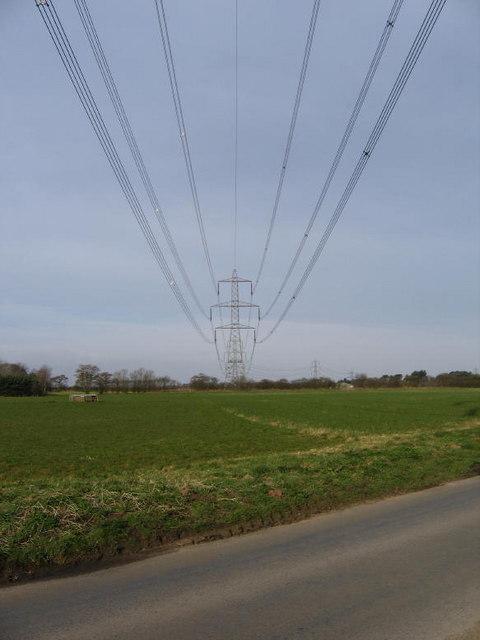 Flat Land And Pylons