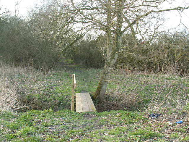 Footbridge and footpath
