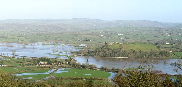 Towy valley in flood