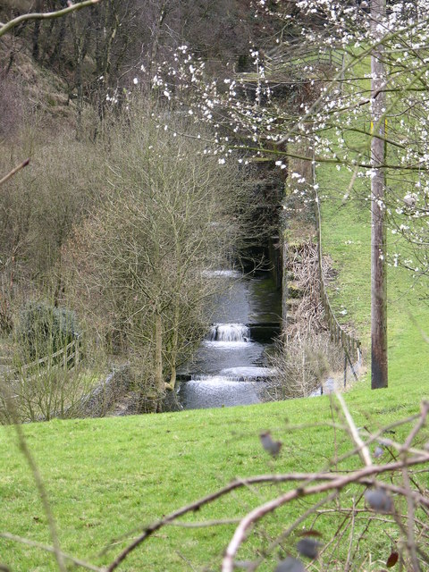 Outflow from Holden Wood reservoir