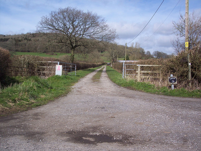 Bridleway and entrance to Janelands Farm, Stour Row