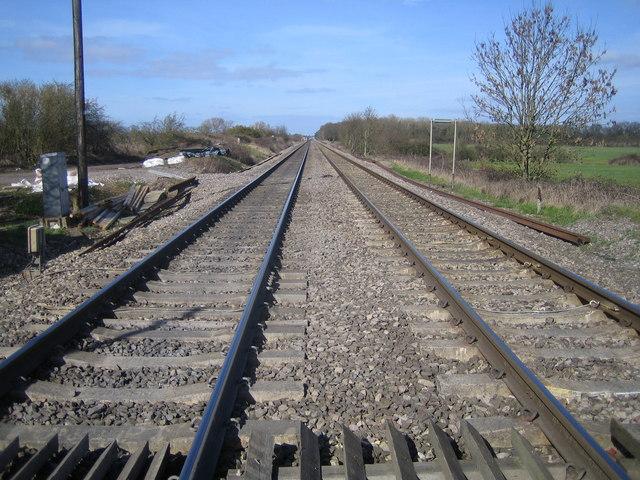 Worcester to Cheltenham railway line at Pirton Siding