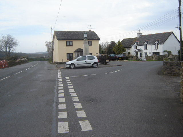 Road junction, Caerwent