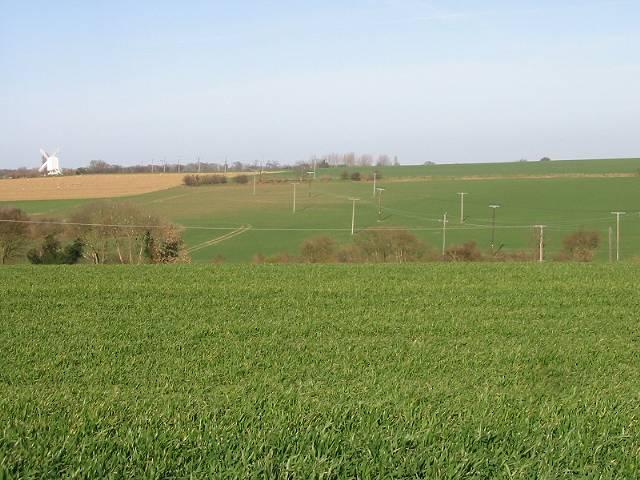 View across farmland near Chillenden