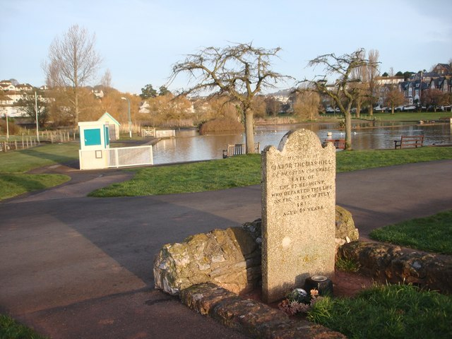 Gravestone Major Thomas Hill of Helston d 1815