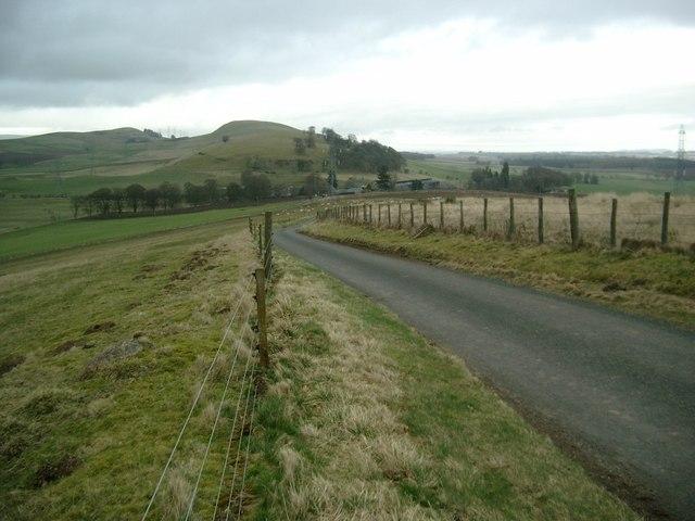 The road to Kirkton of Kingoldrum