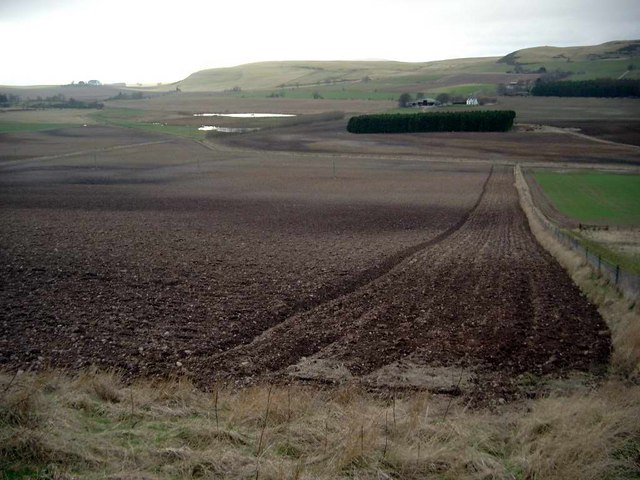 Ploughed fields near Kirkton of Kingoldrum