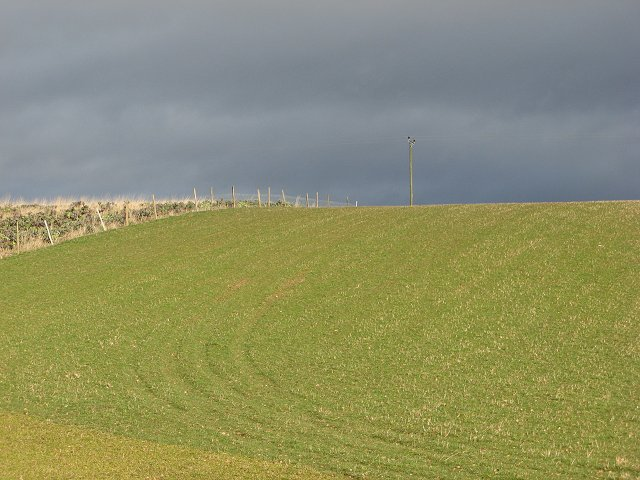 Farmland north of Alyth