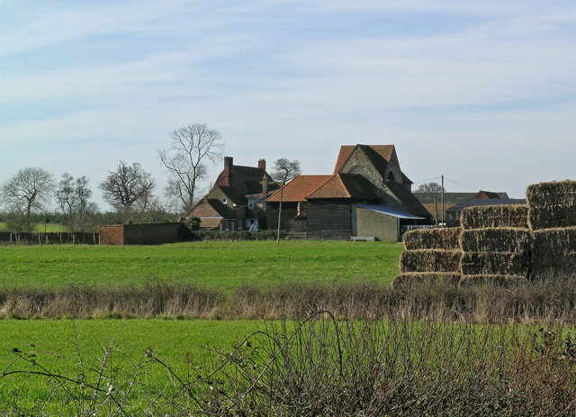 Latton Priory taken from the Rundells footpath