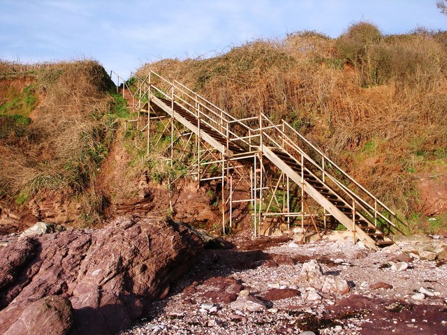 Scaffolding Supported Steps from Saltern Cove