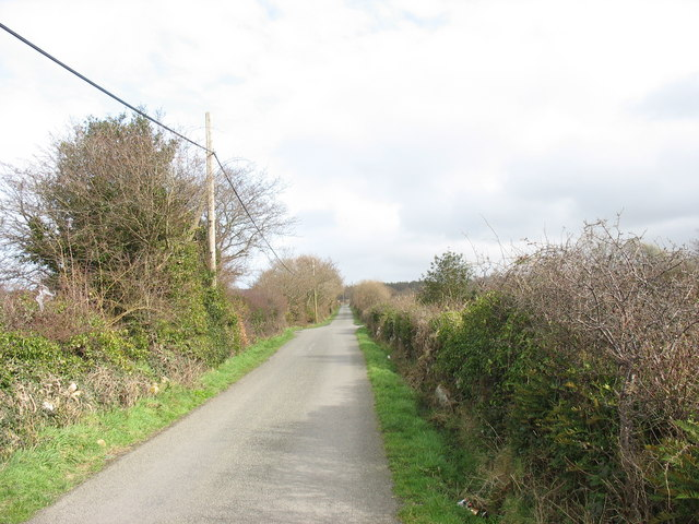 Approaching the entrance to Wern Farm (left) and Cefn Isaf Farm (right)
