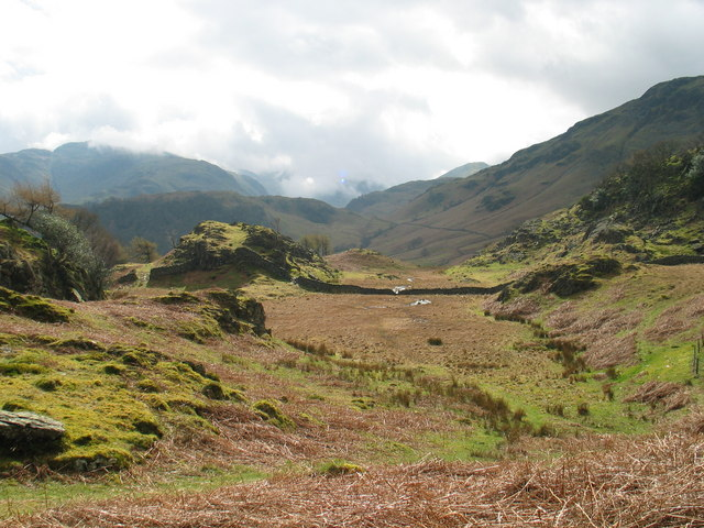 View to Borrowdale fells from Castle Crag
