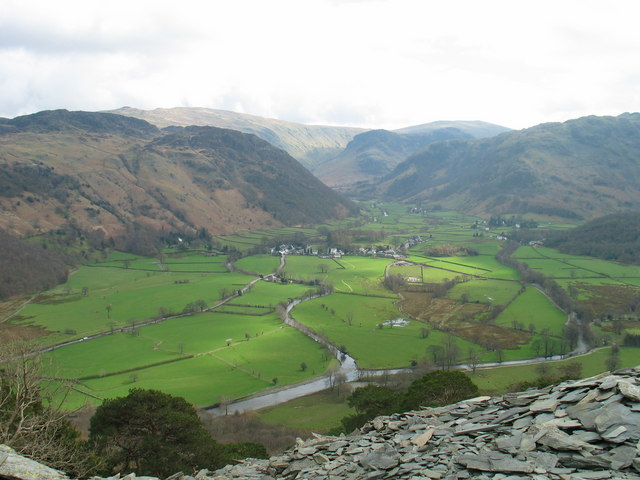 Roswaithe seen from Castle Crag