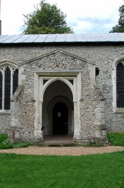 St Mary, Wallington, Herts - Porch