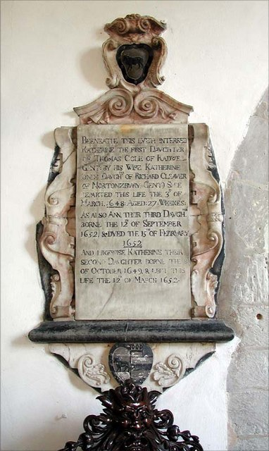 St Nicholas, Norton, Herts - Wall monument