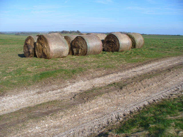 Haybales on the Wiltshire Downland