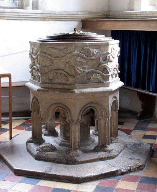 St Mary, Standon, Herts - Font