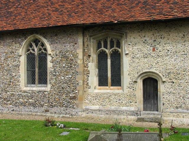 St John the Baptist, Widford, Herts - Windows