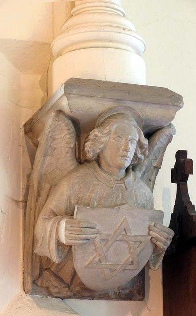 St John the Baptist, Widford, Herts - Corbel