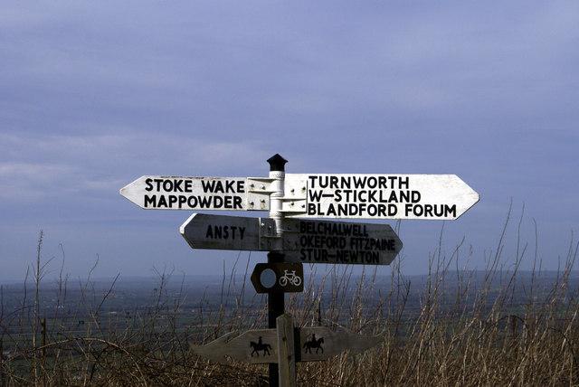Signpost at Bulbarrow